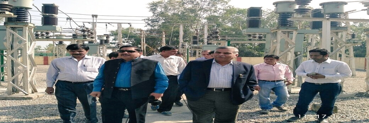 Visit of CMD, PFC at Amritpur patti Substation at Jaspura, Uttarakhand on 11-Nov-2017